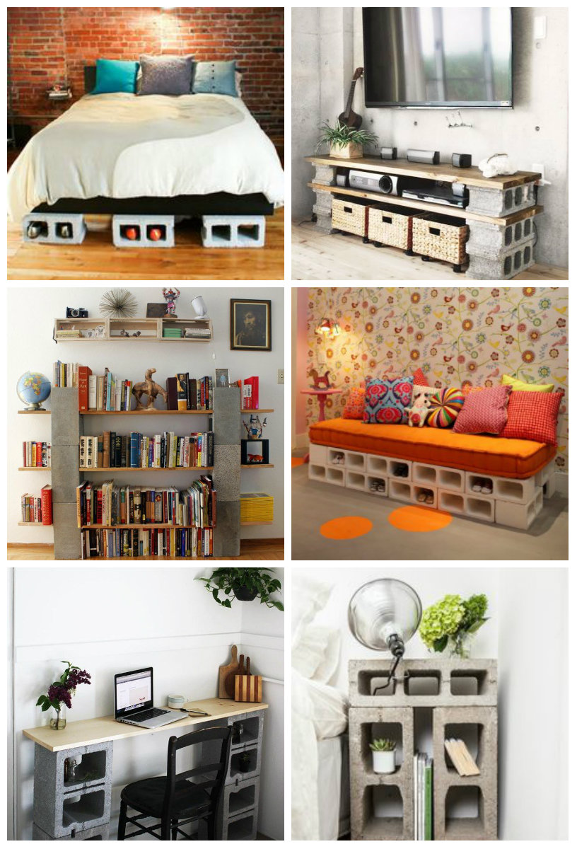 des id es de recyclage de parpaings. Black Bedroom Furniture Sets. Home Design Ideas